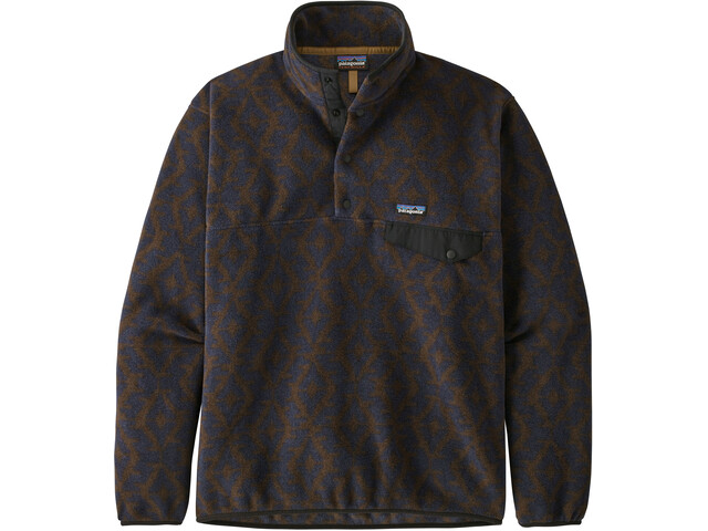 Patagonia Lightweight Synch Snap-T Pull Taille UE Homme, field geo small/new navy